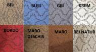 Set huse Multielastice Jacquard pentru canapea 3 Locuri si 2 fotolii, cu volanas, Maro