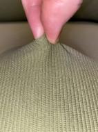 Husa elastica din bumbac reiat pentru Canapea 3 Locuri, culoare Verde