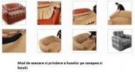 Husa elastica pentru Coltar, cu volanas - Maro
