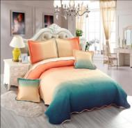 Cuvertura de pat din bumbac matlasat imprimat + 4 fete perna ES98