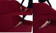 Husa elastica din bumbac pentru Canapea 3 Locuri - culoare Maro Deschis