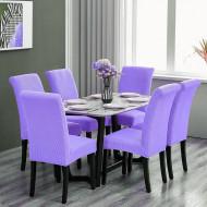 Set 6 huse elastice pentru scaune culoare Lila