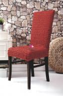 Set 6 huse elastice pentru scaune, fara volanas, Caramiziu
