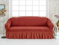 Husa pentru canapea de 3 locuri - Caramiziu