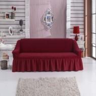 Husa pentru canapea de 2 locuri - Bordo