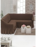 Husa pentru canapea tip Coltar - Maro