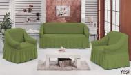 Set huse canapea 3 Locuri si doua fotolii - 3.1.1. - Verde