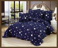 Cuvertura de pat din bumbac matlasat imprimat + 4 fete perna ES75
