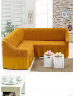 Husa pentru canapea tip Coltar - Mustar Deschis