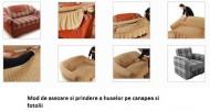 Husa pentru canapea de 2 locuri, fara volanas - Bej Inchis