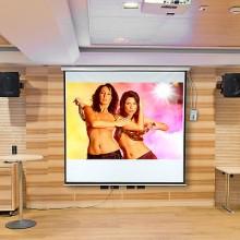 Ecran de proiectie electric ACom 4:3 16:9 3D ready 244 x 182 cm