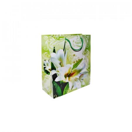 Punga cadou cu flori, 14x20x7 cm