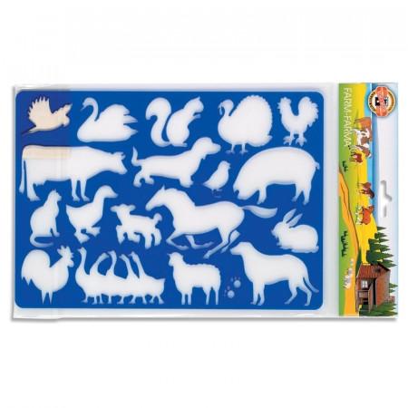 Sablon animale ferma, 26,5x18,5 cm - Koh-I-Noor