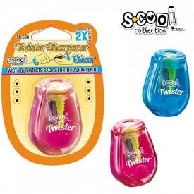 Ascutitoare cu container, dubla rasucire, 1 buc/blister - S-COOL