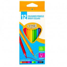 Creioane color, 12 culori/set - S-COOL