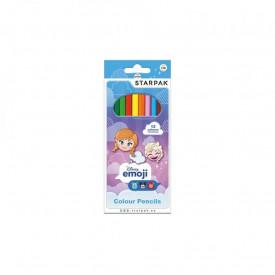 Creioane color - Emoji Frozen 12 culori set - STARPAK