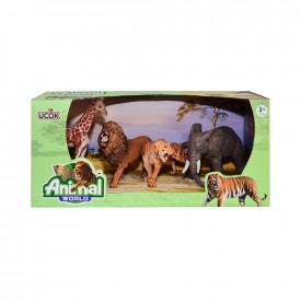 Figurine animale salbatice, 4 buc/cutie