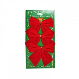 Fundite decorative, rosii, 3/set