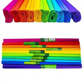 Hartie creponata 200x50cm, Curcubeu, 10 culori/set - Koh-I-Noor