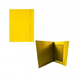 Mapa F4 cu elastic, carton, 600g/mp, galbena - OFFISHOP