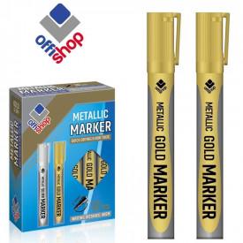 Marker permanent auriu, 2-4 mm, 12 buc/set - OFFISHOP