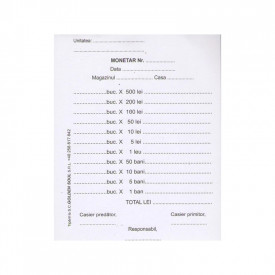 Monetar A6, 100 file, 1 exemplar