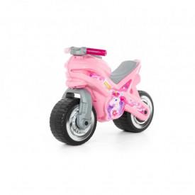 Motocicleta fara pedale, MX-ON, roz, 70x30x49,3 cm, Polesie