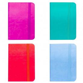 Notes A6 cu elastic, 96 file, Diverse culori