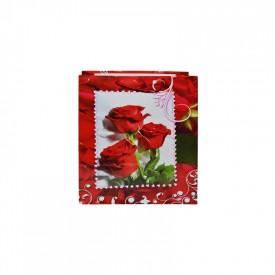 Punga cadou cu flori, 26x32x10 cm