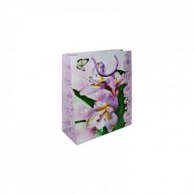 Punga cadou cu flori, 32x44x11 cm