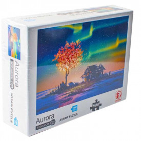 Puzzle carton mini, Aurora Boreala, 1000 piese