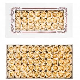 Trandafiri decorativi, din sapun, 50 buc/set - CREM