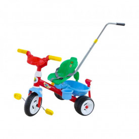 Tricicleta cu maner si accesorii, 74x49,5x55,5 cm, Polesie