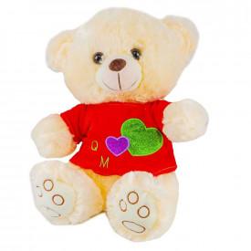 Ursulet din plus, cu tricou, 34 cm