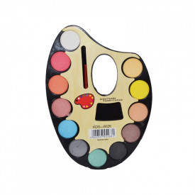 Acuarele pe paleta + pensula 12 culori