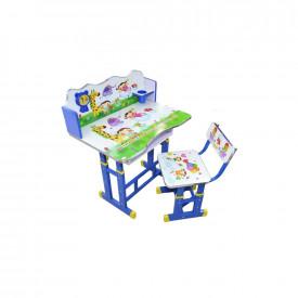 Birou pentru copii, reglabil, lemn + metal