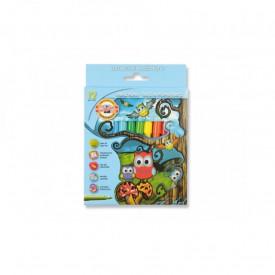 Carioca 12 culori Owls - Koh-I-Noor