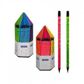 Creioane grafit cu radiera, 144/display - NEBO