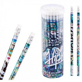 Creion cu guma - Grafitti, 48 buc/set - STARPAK