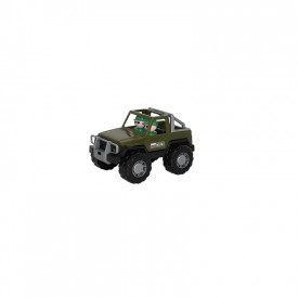 Jeep militar cu 2 soldati, 23x14x13 cm, Cavallino
