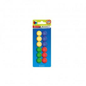 Magneti color, 22 mm, 12 buc/set - STARPAK