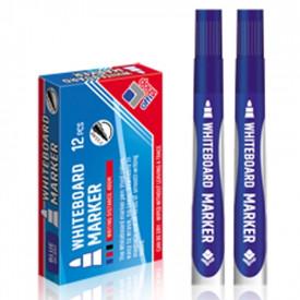 Marker whiteboard, albastru, 2-3,5 mm, 12 buc/set - OFFISHOP