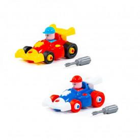 Masina F1 demontabila, 19,5x8,3x29 cm + pilot, Polesie