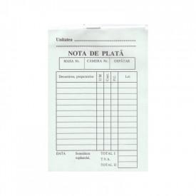Nota de plata A6, 100 file, autocopiativa, 2 exemplare