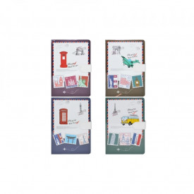 Notes A6 cu magnet, 144 file, Timbre cu orase