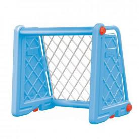 Poarta fotbal, albastra, 75x100x55cm - Dolu