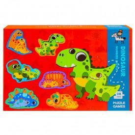 Puzzle din lemn - Dinozauri
