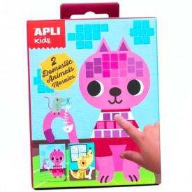 Set creativ Mozaic Animale Apli Kids