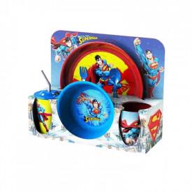 Set vesela+tacamuri Superman, 30x11x28cm