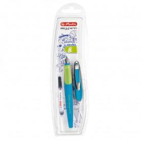 Stilou My.Pen penita L albastru neon - blister